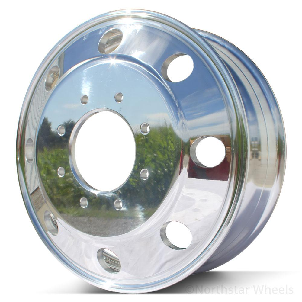 "19.5 Northstar Polished Both Sides Chevy/GMC 3500 DRW 8X6.5"" 6 Wheel Kit (1973-2010)"