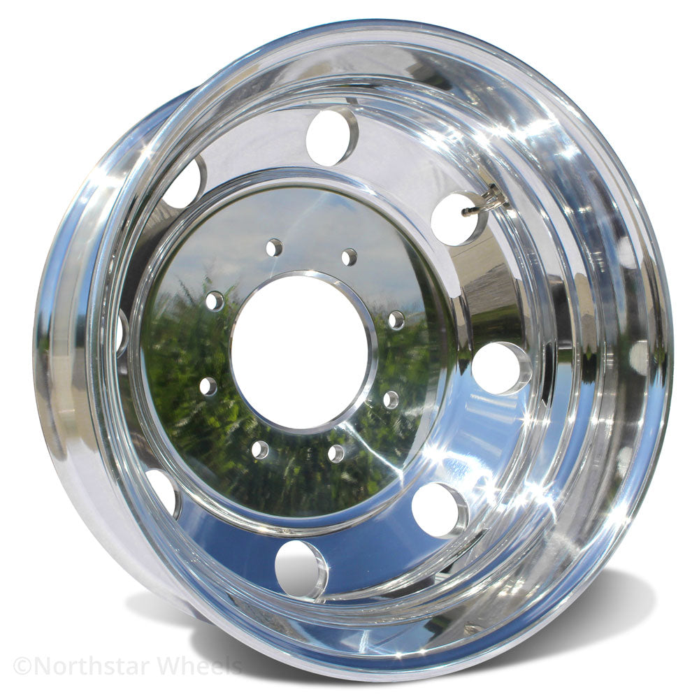"19.5x6.00 Northstar 8x6.5"" Polished Both Sides 4.88"" Center (Ford F350 DRW 1984-1997)"