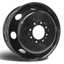 "Load image into Gallery viewer, 19.5x6.00 8x6.5"" Black Steel Dual Wheel (Ford F350 1998-2004)"