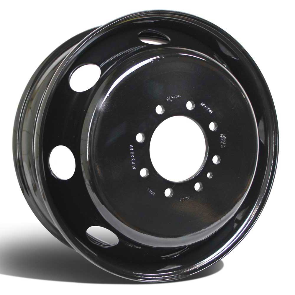 19.5x6.75 Set of 6 8x210mm Black Steel (Chevy/GM 3500 2011-Present)