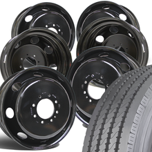 "Load image into Gallery viewer, Dodge 3500 Hercules 31.9"" Strong Guard 225/70R19.5 Mounted 19.5 Steel Wheel Kit"