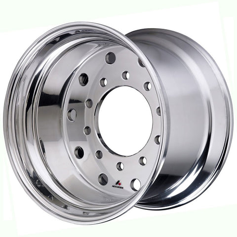22.5x14 Hub Piloted X-ONE Accuride Accu-Lite Accu Shield Wheel-Standard Polish