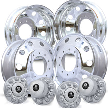 Load image into Gallery viewer, 19.5 Alcoa Mirror Polish 2008-Present Dodge RAM 4500/5500 DRW 10x225mm 4 Wheel Kit