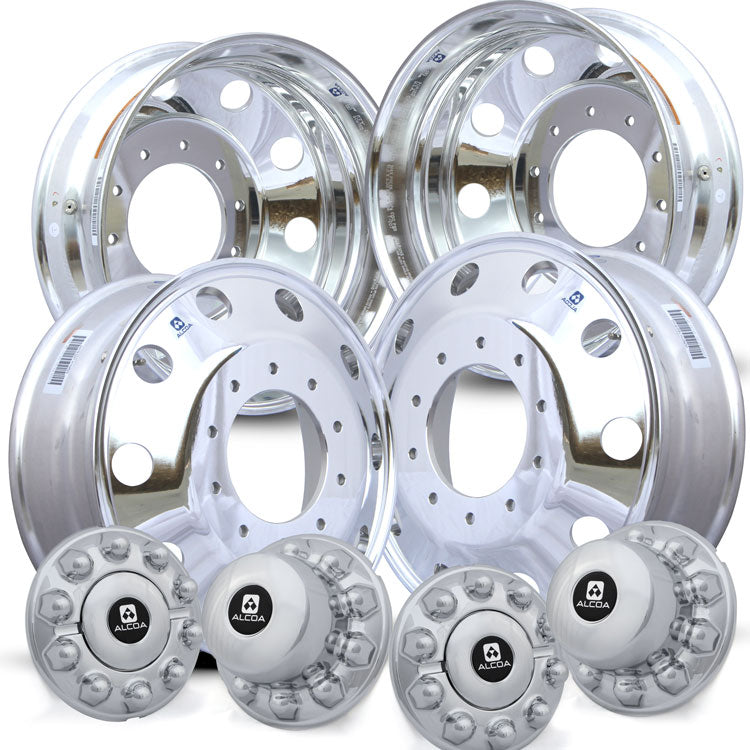 Alcoa 19.5 High Polish Ford F450/F550 Kit (2005 & Newer 10 Lug)
