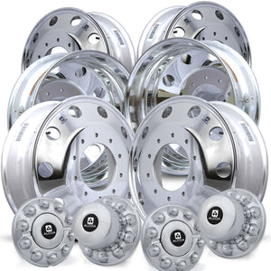 Alcoa 19.5 LvL One Ford F450/F550 6 Wheel Kit (2005 & Newer 10 Lug)