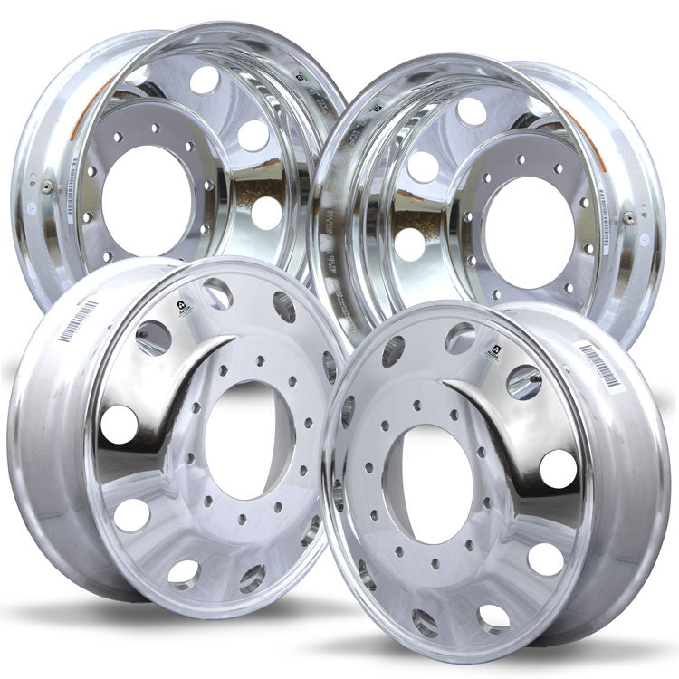 Alcoa 19.5 DuraBright Ford F450/F550 4 Wheel Kit (2005 & Newer 10 Lug)