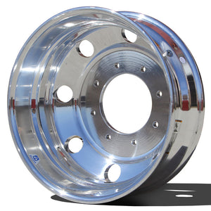 19.5x6.00 Alcoa 8x225mm Hub Pilot High Polish Rear