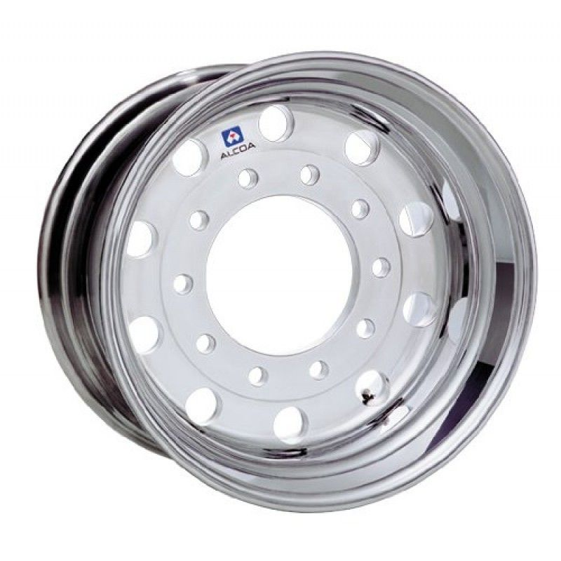 "22.5x12.25 Alcoa Mirror Polish 2.75"" Offset Super-Single Float Front Wheel"