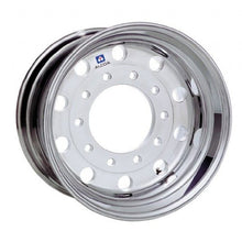"Load image into Gallery viewer, 22.5x12.25 Alcoa Mirror Polish 2.75"" Offset Super-Single Float Front Wheel"