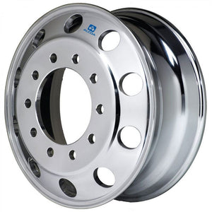22.5x8.25 Alcoa 10x285mm Hub Pilot Ultra Lightweight 40lbs High Polish Front