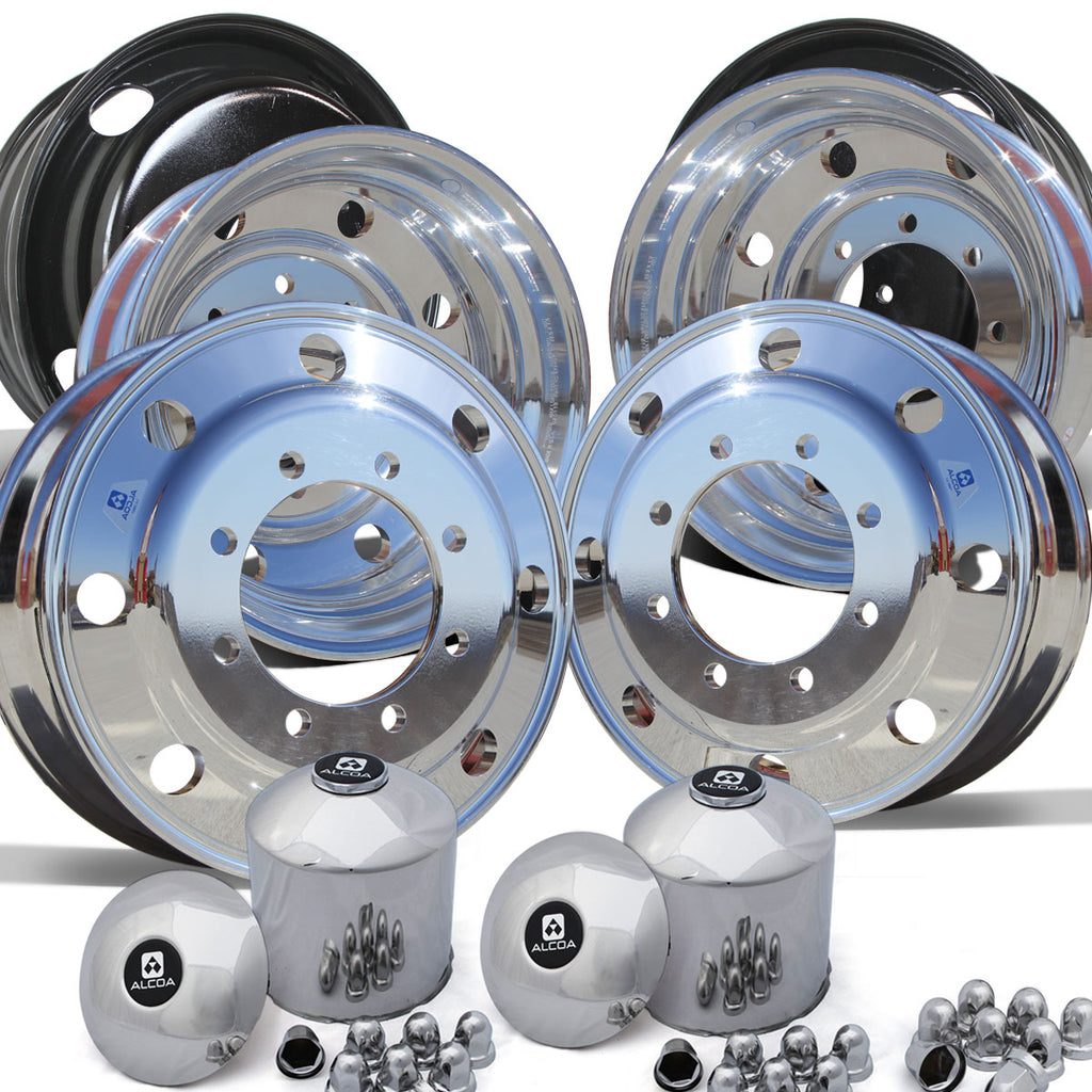 "22.5"" Alcoa High Polished Both Sides Chevy 4500/5500 Wheel Kit (8x275)"