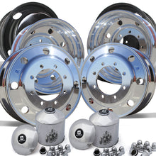 "Load image into Gallery viewer, 22.5"" Alcoa High Polished Both Sides Chevy 4500/5500 Wheel Kit (8x275)"
