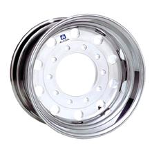 "Load image into Gallery viewer, 22.5x12.25 Alcoa 10x285mm Hub Pilot (Uni-mount) DuraBright Rear 0"" Offset"