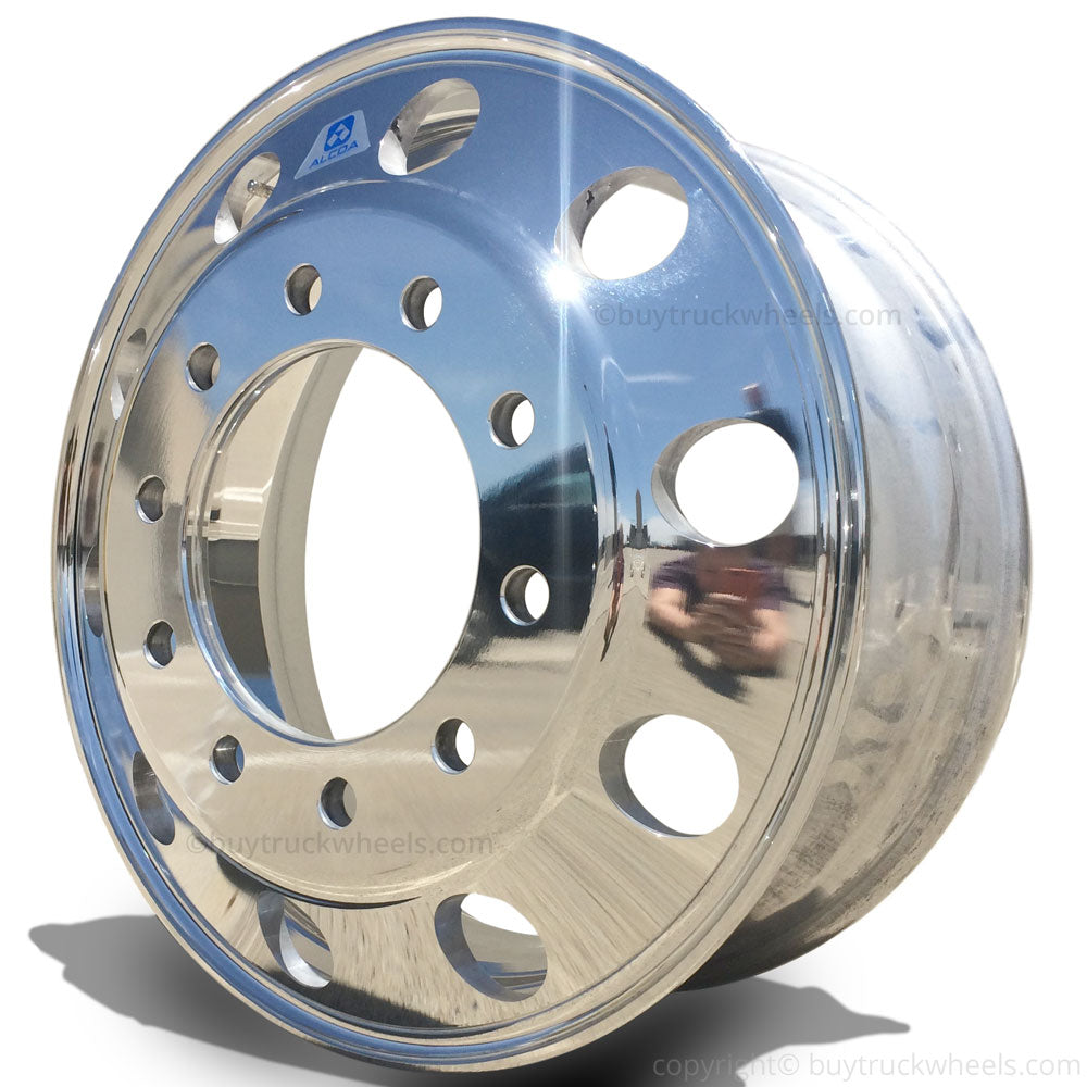 22.5 Alcoa High Polished Aluminum Truck Wheel 883671 Front Steer