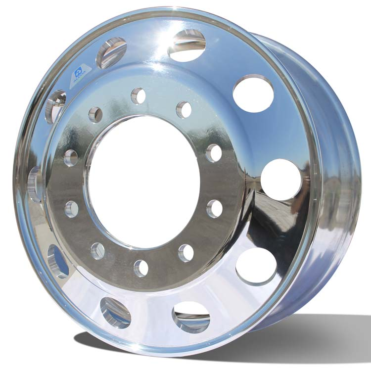"Alcoa's Mirror Polished dipped in a chemical treatment gets you this Dura-Bright® Evo shine. 22.5"" x 8.25"" Aluminum Wheel"