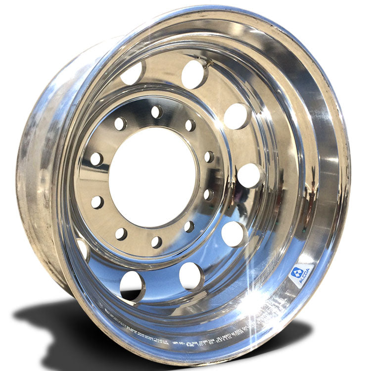 22.5x8.25 Alcoa 10x285mm Hub Pilot High Polish Rear