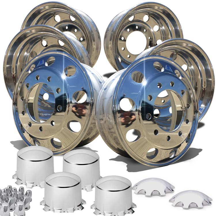 Alcoa LvL One 24.5 Tandem Axle Wheel Kit