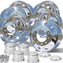 Load image into Gallery viewer, 22.5 Alcoa Dura Bright EVO Truck Wheels Chrome 076188 & 077188 Hub Covers