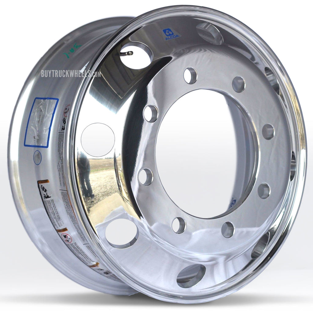 19.5x6.75 Hub Piloted Alcoa Wheel-Polished Out (Steering)