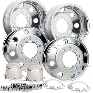 Alcoa Polished 24.5 Wheel Kit