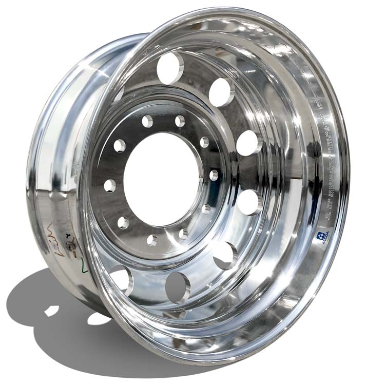 24.5x8.25 Alcoa 10x285mm Hub Pilot High Polish Rear