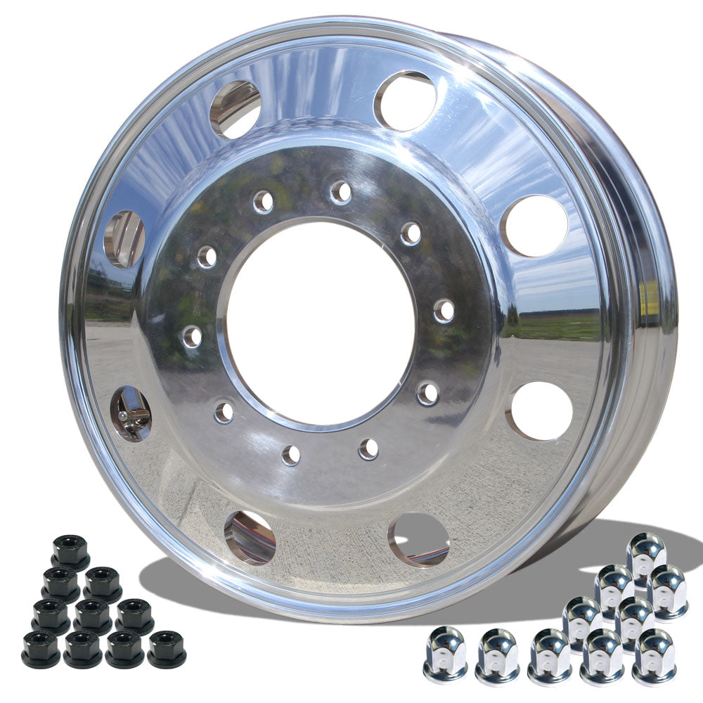 "19.5x6.00 Northstar 10x7.25"" Hub Pilot Polished Both Sides (Chevy/GMC 3500HD 1996-2005)"