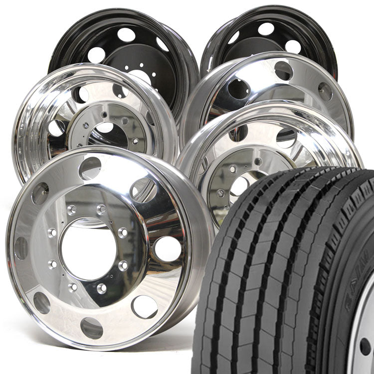 "Dodge Ram 3500 Toyo 33.2"" M143 245/70R19.5 Mounted 19.5 American Force Kit 8x200"