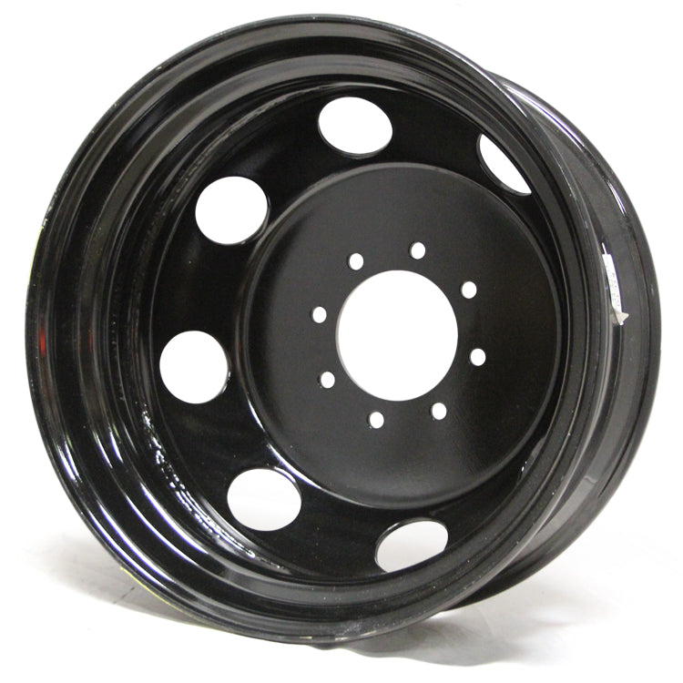 19.5x6.75 American Force Spare 8x210mm Black Steel (Chevy/GM 3500 2011-Present)