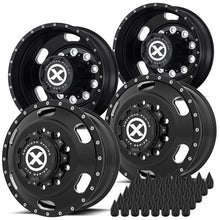 "Load image into Gallery viewer, 22.5 Black Aluminum ""Indy"" Wheel Kit"