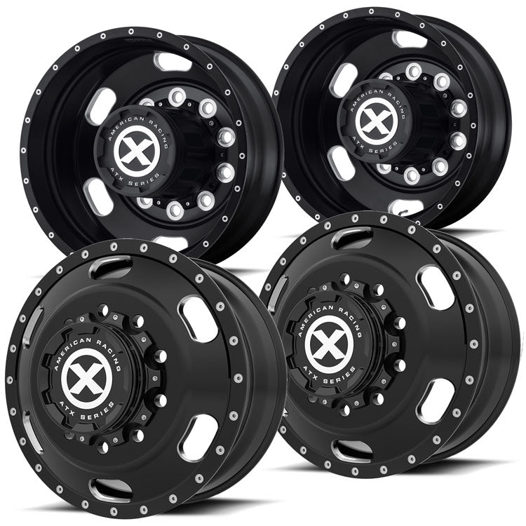 "22.5 Black Aluminum ""Indy"" Wheel Kit"