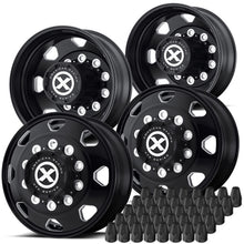 "Load image into Gallery viewer, 22.5 Black Aluminum ""Octane"" Wheel Kit"