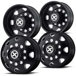 "22.5 Black Aluminum ""Octane"" Wheel Kit"
