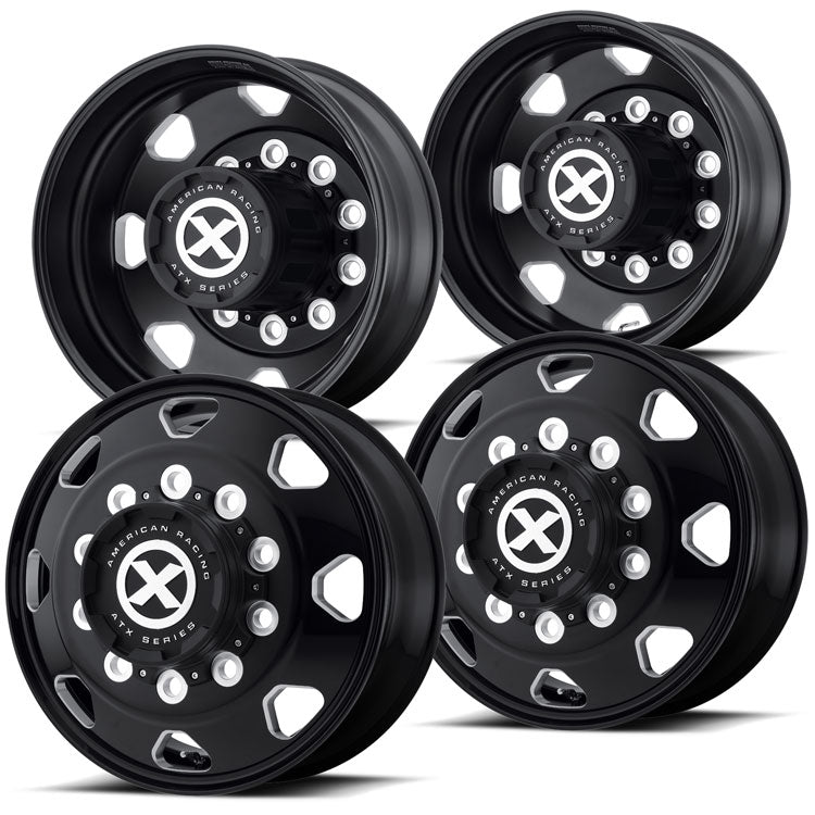 "24.5 Black Aluminum ""Octane"" Wheel Kit"