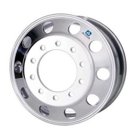 22.5x10.50 Alcoa 10x285mm Hub Pilot (Uni-mount) High Polish Front Only