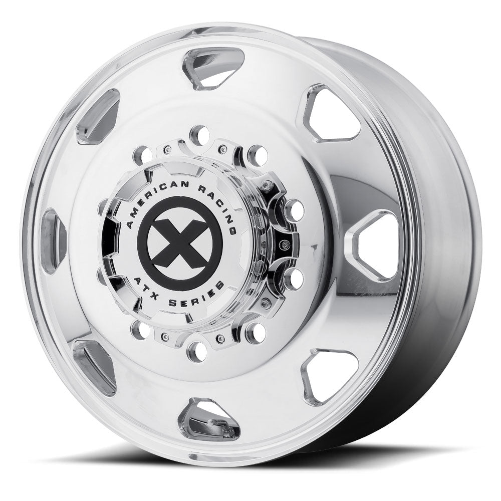 "24.5x8.25 ATX 10X285MM HUB PILOT POLISHED ""OCTANE"" FRONT"