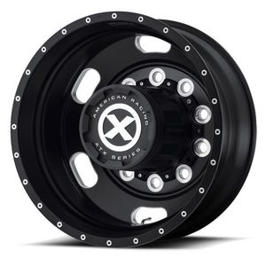 "22.5X8.25 ATX 10X285MM HUB PILOT BLACK ""INDY"" REAR OUTER"