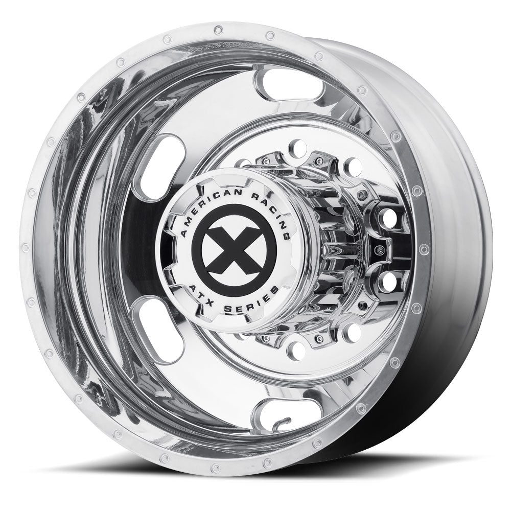 "24.5x8.25 ATX 10X285MM HUB PILOT POLISHED ""INDY"" REAR"