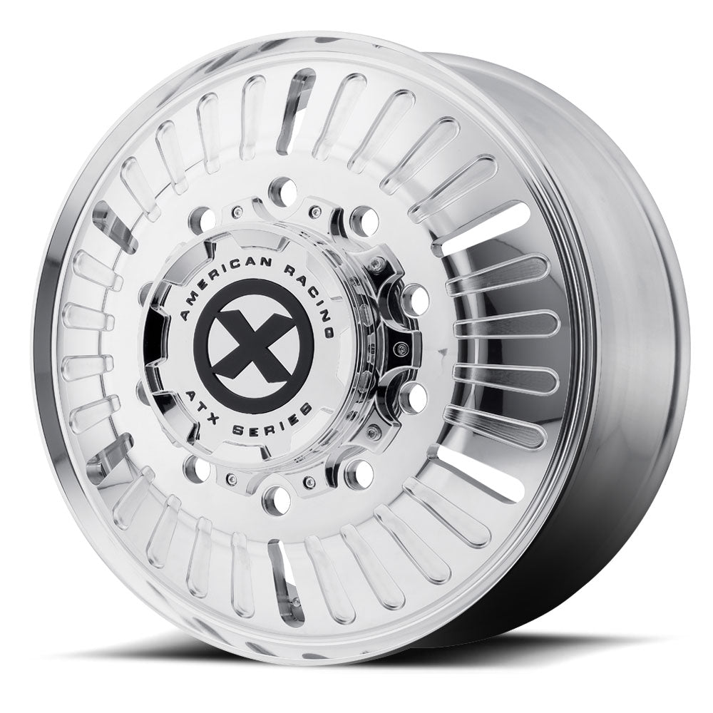 "22.5x8.25 ATX 10X285MM HUB PILOT POLISHED ""ROULETTE"" FRONT"