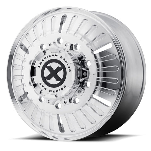 "22.5 Polished ATX Aluminum ""Roulette"" Front Wheel"