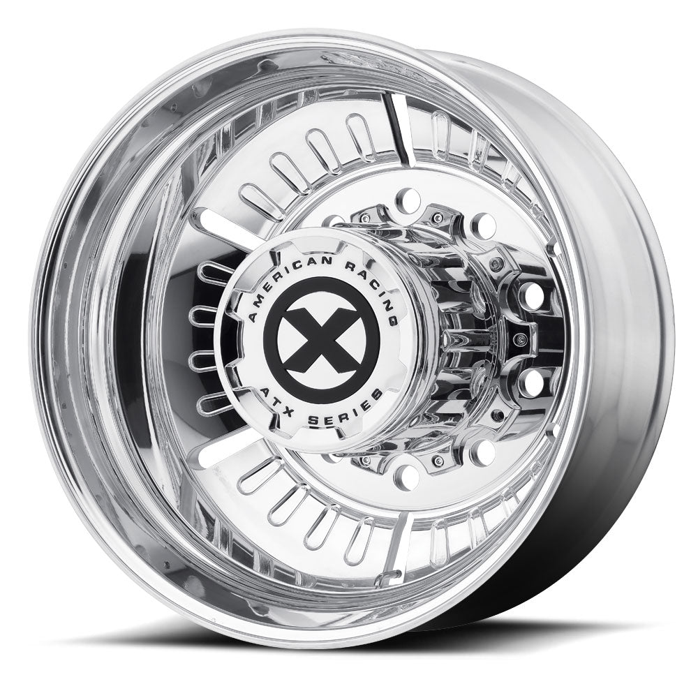 "22.5x8.25 ATX 10X285MM HUB PILOT POLISHED ""ROULETTE"" REAR"