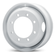 Load image into Gallery viewer, 22.5x8.25 Jantsa 8x275mm Hub Pilot 4 Hand Hole White Steel