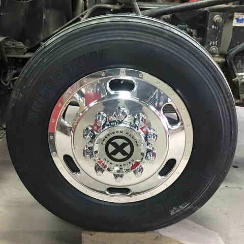 "24.5x8.25 ATX 10X285MM HUB PILOT POLISHED ""INDY"" FRONT"