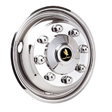 Load image into Gallery viewer, 22.5 Hub Pilot 8 Lug 4 Hand Hole Stainless Steel Simulator (Front Pair)