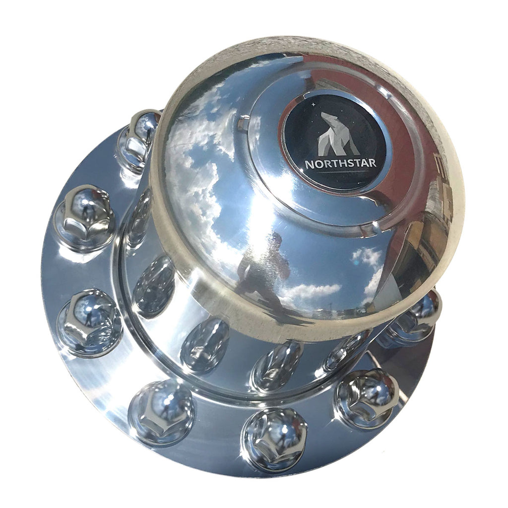 Stainless Steel Rear & Trailer Hub Cover for 10 on 285mm