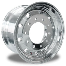 "Load image into Gallery viewer, Accuride 22.5 x 12.25"" Aluminum High Polished Wheel 2.75"" offset"