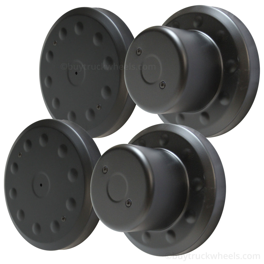 Black Powder Coated Hub Cover Kit 10 on 225mm Dodge
