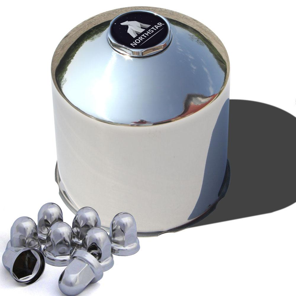 Stainless Steel Rear Northstar Hub Cover Kit for 30mm Nuts