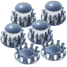 Load image into Gallery viewer, Rounded Cap and Barrel Nut Covers 6 Piece Tandem Rear Axle Set