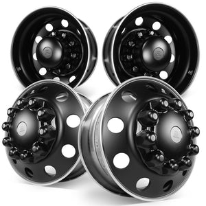 22.5 Alcoa Dura-Black™ Aluminum 10x285mm 4 Wheel Kit