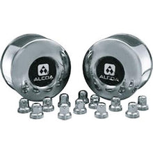 Load image into Gallery viewer, 2 Alcoa Stainless Steel Rear Dual Hub Covers for Sprinter with 12 Stainless Steel Alcoa Lug Nut Covers